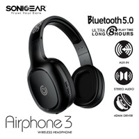 SONICGEAR AIRPHONE 3- Wireless Headset - Strong Bass & Clear Audio -WS