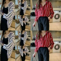 kemeja dabel list 21 - blouse - pakaian wanita