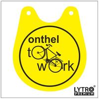 Bike Tag Onthel - Onthel To Work - Gantungan Sadel Sepeda Onthel
