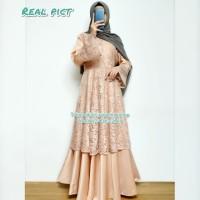 dress pesta muslim mayra coksu gamis brukat import modern by iragading