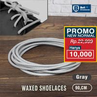Tali Sepatu Lilin bulat 90cm abu2 / Gray waxed round Shoelace