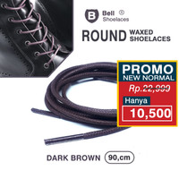 Tali Sepatu Lilin 90cm Waxed Shoelace Dark Brown Terlaris