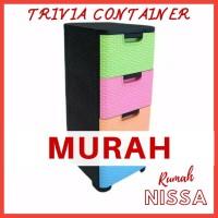 Lemari Plastik Trivia 4 Susun Container Murah Hommy
