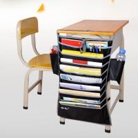 Rak Organizer Gantung Holder Buku / Majalah Warna Hitam untuk Meja