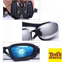 Kacamata Renang RUIHE Anti Fog UV Protection Dewasa - RH9200 [Gray]