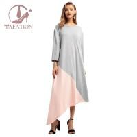 Dress Gamis Muslim Wanita Ukuran Besar untuk Musim Gugur / Dingin
