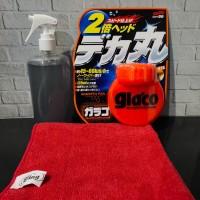 Glaco Efek Daun Talas Kaca Glaco Roll On 120mL + Meguiar's Glass Clean