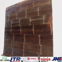 Tirai bambu hitam ukuran L 100cm x P 200cm
