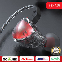 Qkz Ak9 In-ear Earphone Hifi Heavy Bass Gaming Headset With Mic Sport - Hitam