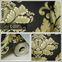 Thumbnail Wallpaper Sale Ready Klasik Emas Hitam 53CM X 10M