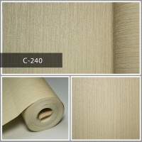 Wallpaper Sale Ready Soft Mocca Polos 53CM X 10M