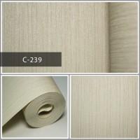 Wallpaper Sale Ready Soft Coklat Polos 53CM X 10M