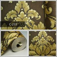 Wallpaper Sale Ready Klasik Emas Coklat 53CM X 10M