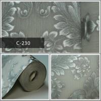 Wallpaper Sale Ready Klasik Silver Soft Pink 53CM X 10M