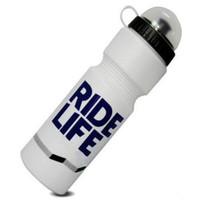 Botol Minum Olahraga Sepeda Ride Life Logo 750ml Aksesoris Sepeda - Putih