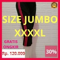 Celana Senam Wanita JUMBO BIG SIZE Celana Olahraga 3/4 Aerobic - 3L, Merah Muda
