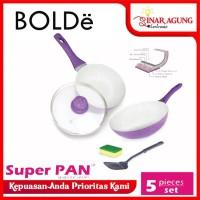 SUPER PAN BOLDe Purple 5Set - PANCI GRANITE CERAMIC COOKWARE SET ORI