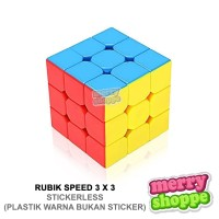 Mainan Edukasi Rubik Speed 3 x 3 Magic Cube Yugi Licin Tanpa Sticker S