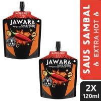Jawara Saus Sambal Bawang Goreng Extra Hot Pouch 120Ml Twin Pack