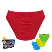 1 BOX ISI 3 Celana Dalam Agree Kids AK.021 / CD Anak Laki Motif Polos