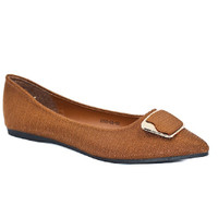 Laviola Shoes - Sepatu Flat Shoes Wanita - 2150 LSW Brown
