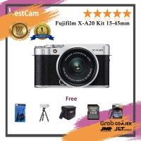 Fujifilm X-A20 Kit 15-45mm - Silver - FREE ACCESSORIES
