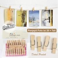 gantungan foto kayu / Photo Clip / Klip Foto / Jepitan Foto Kayu Polos