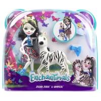 BONEKA ENCHANTIMALS Doll Playset - ZELENA ZEBRA & HOOFETTE