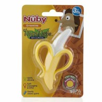 nuby banana teether nananubs silicone brush sikat gigi silikon
