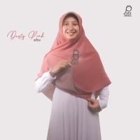 Jilbab Syari Segi Empat Bolak Balik Dusty Pink Abu