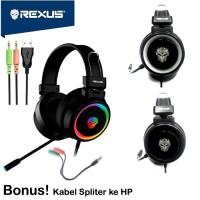 Trend - REXUS HEADSET GAMING VONIX F30 RGB Plus MIC dan Volume HEADSET