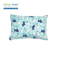 Sleep Max Pillow Cover Junior/Sarung Bantal Balita 35x50 Cm-Cat Blue