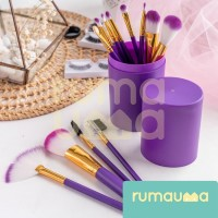 RUMAUMA Brush Makeup Set Eye Shadow Peralatan Kuas Profesional - Ungu