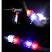 Lampu Sepeda LED Merah Slicon Waterproof 2 PCS - HJ008-2