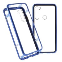 F7 Oppo PREMIUM MAGNETIC Glass Case Casing Cover Kaca Magnetik Metal