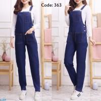 JP 363/Jumpsuit Jeans Wanita Hijab/Baju Kodok Wanita/Overall Jeans
