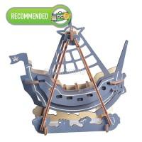 Wooden 3D Puzzle Kapal Bajak Laut MENGASAH OTAK! Collection Item