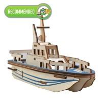 Wooden 3D Puzzle Perahu Speed Boat MENGASAH OTAK! Collection Item
