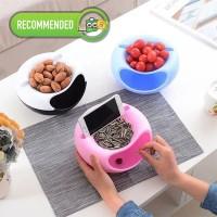 Phone Holder Mangkok Snack HOLDER HANDPHONE Bowl Praktis Serbaguna