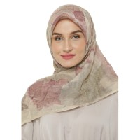 Wilis & Verda - Hijab Segi Empat Paris Ecoprint Motif Daun Ungu