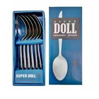 1 Set Sendok Garpu Alat Makan Super Doll Stainless Steel