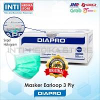 DIAPRO - Masker Earloop 3 Ply | Masker Karet 3 Ply | Surgical Mask