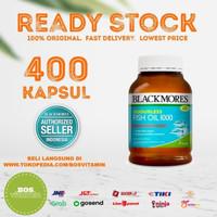 Blackmores fish oil 1000mg BPOM Kalbe 400 kapsul