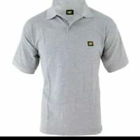 tshirt kaos Kerah Caterpillar Bordir Logo - High Quality