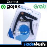 Capo Guitto GGC-03 GGC 03 Untuk Gitar Elektrik Akustik Ukulele Black