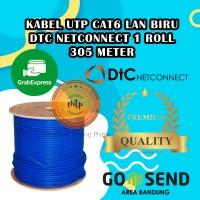 KABEL LAN UTP CAT6 DTC NETCONNECT BIRU 100% ORIGINAL-MURAH-BERKUALITAS