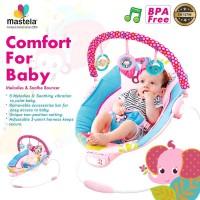 MASTELA Baby Bouncer Comfort 3 Recline PINK - ELEPHANT - 6316