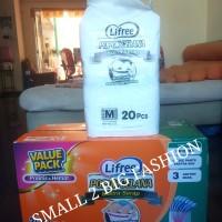 7 pack lifree ekstra serap kemasan value pack size L16