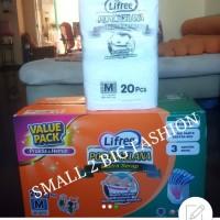 6 pack lifree ekstra serap M 20 L 16 xl 12 M20 L16 XL12 value pack