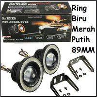 LED FOGLAMP ANGEL EYES 89MM - LED FOG LAMP ANGEL EYES UNIVERSAL